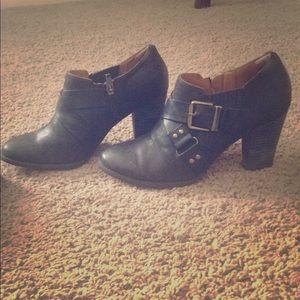 Clarks black booties 8